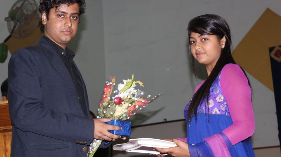 Felicitated At Central University, Bilaspur